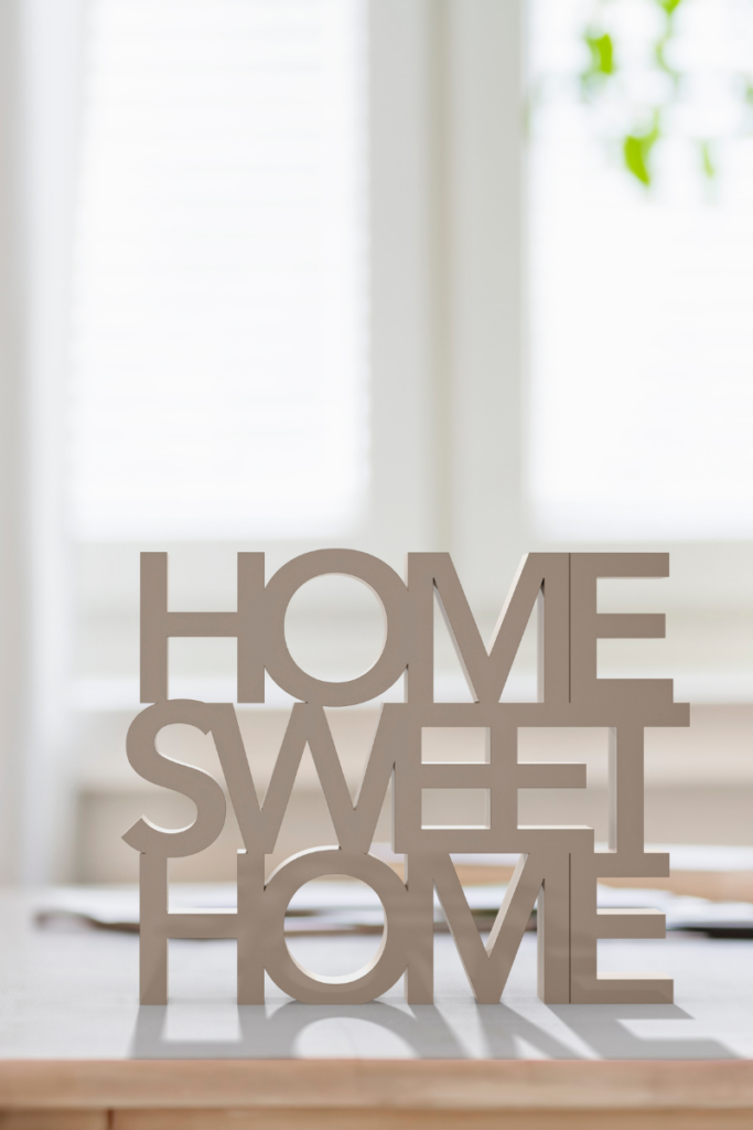 """sign that says """"home sweet home"""""""